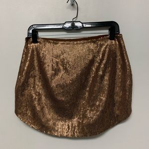 Bronze sequin pins and needles skirt from UO